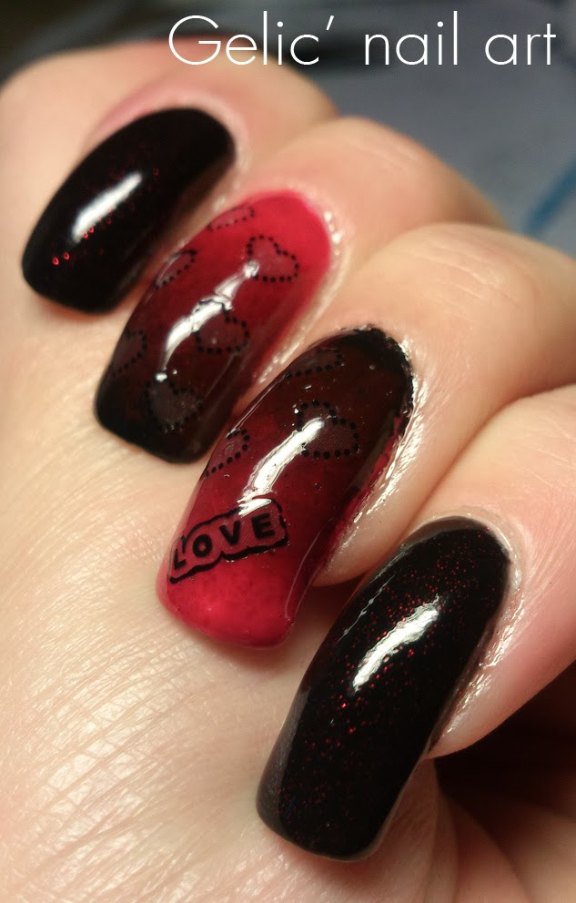 http://gelicnailart.blogspot.se/2014/02/red-and-black-gradient-nail-art-with.html