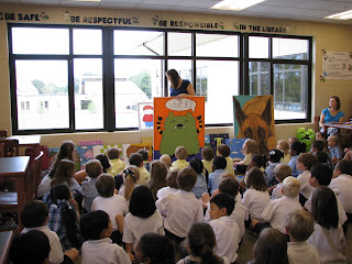 Children's author visits Montgomery Catholic Elementary Campuses in September 1
