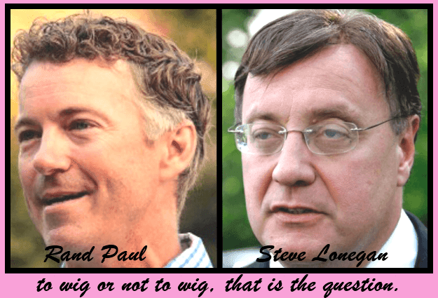 Senator Rand Paul (R-KY) is taking his wig on the road to New Jersey to campaign for Steve Lonegan's wig.