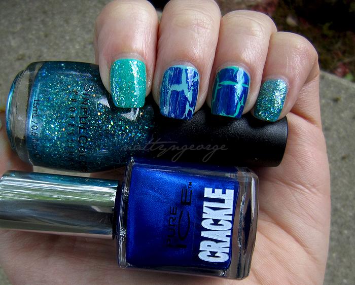 Ice Blue Pearl Nail Polish - Nails Gallery