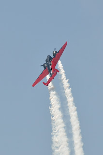 another picture of Matt Younkin in Beech 18 at the Evansville Freedom Festival