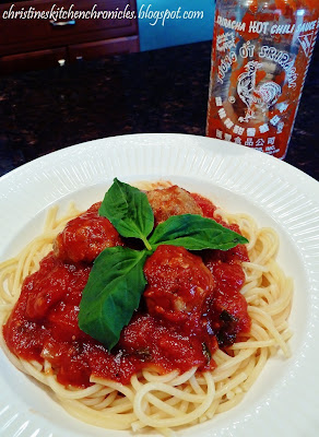 Sriracha Spaghetti and Meatballs