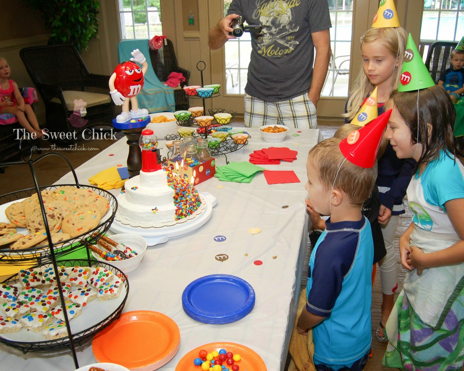 M&M Kids Birthday Party Cake by The Sweet Chick