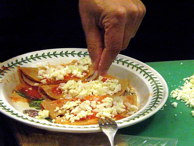 a plate of entomatadas