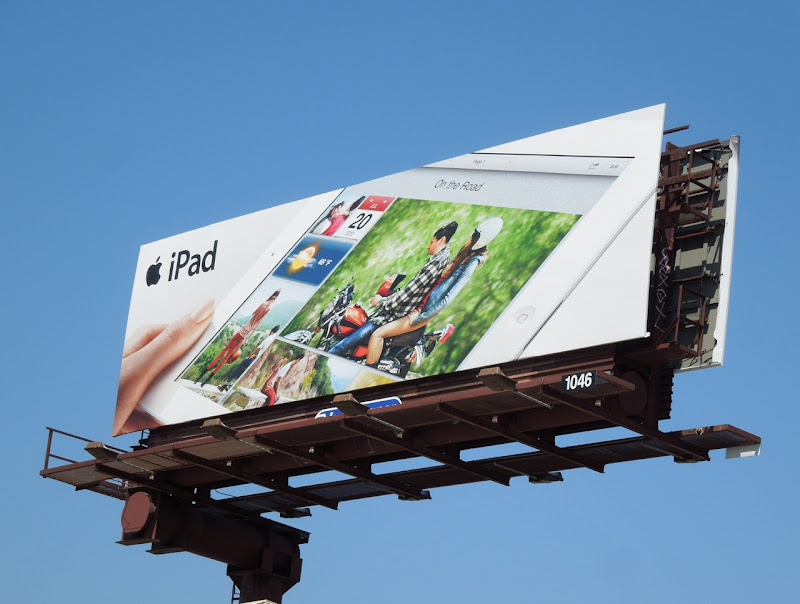 iPad 3 motorbike billboard