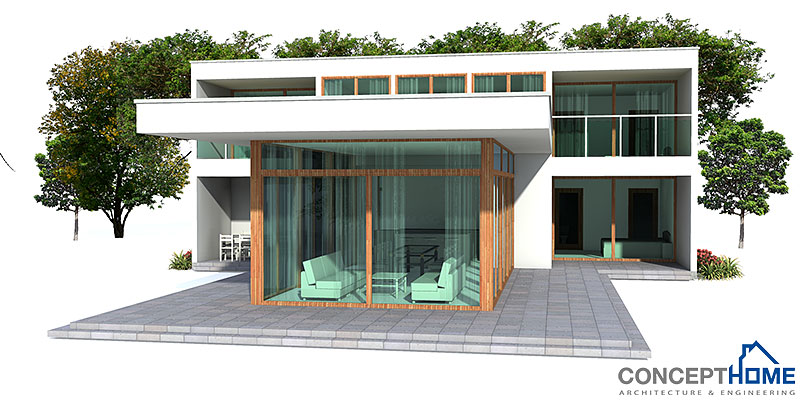 Contemporary house plans contemporary house plan ch165 for Modern house plan 2012