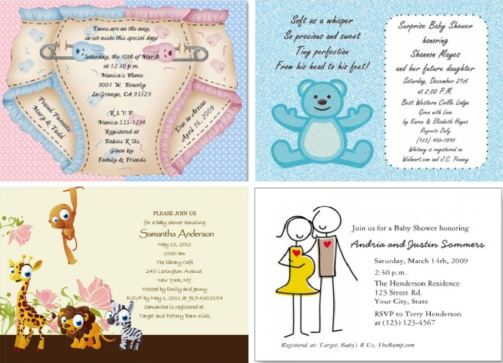 example you can see some pictures of baby shower invitations below