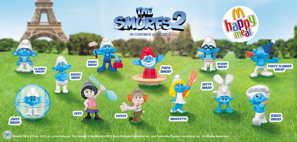 Mcdonald S Happy Meal Toys 2013 : Smurf tastic day at mcdonald s