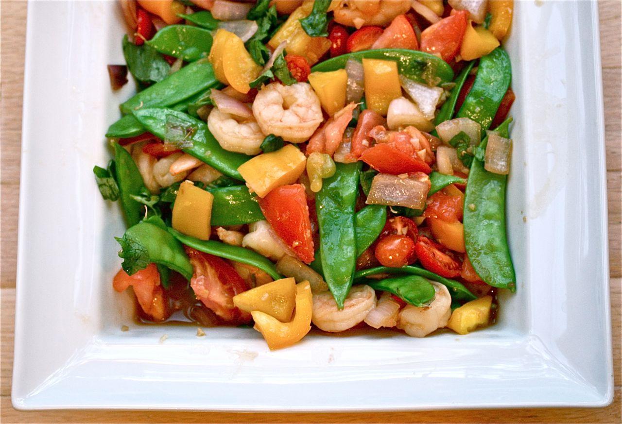 vita nostra: Thai Basil and Mint Shrimp Stir Fry