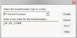 create stored procedure transformation