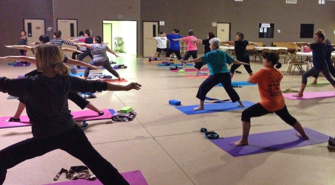 $5 Yoga at Wesley UMC, Nederland, Texas. Mondays.6:15pm, some Fridays.5:30pm