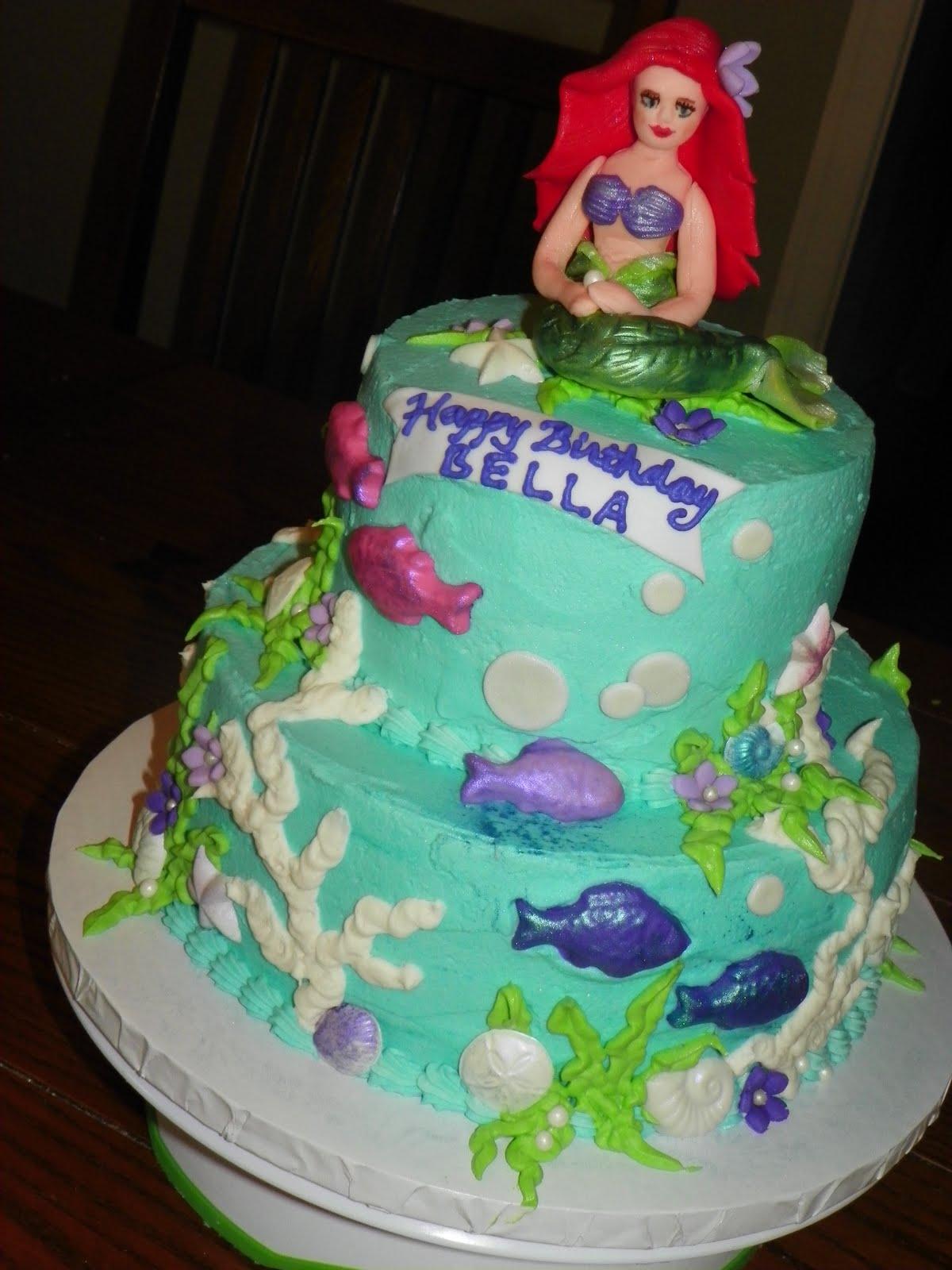 Plumeria Cake Studio Ariel Little Mermaid Birthday Cake