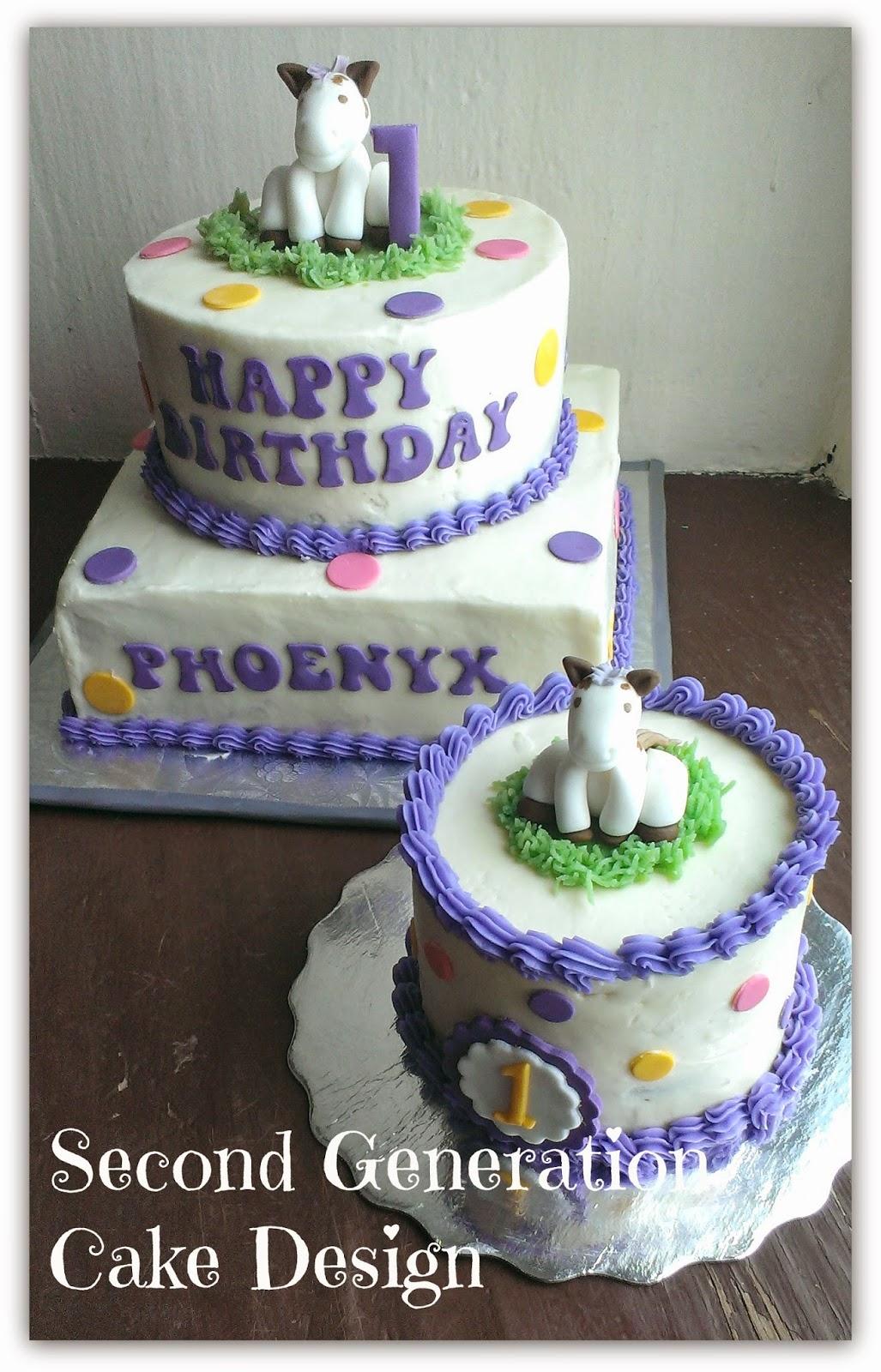 Second Generation Cake Design Horse Themed 1st Birthday Cake