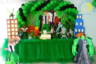 fotos e dicas de Decoração para festa infantil do Ben10