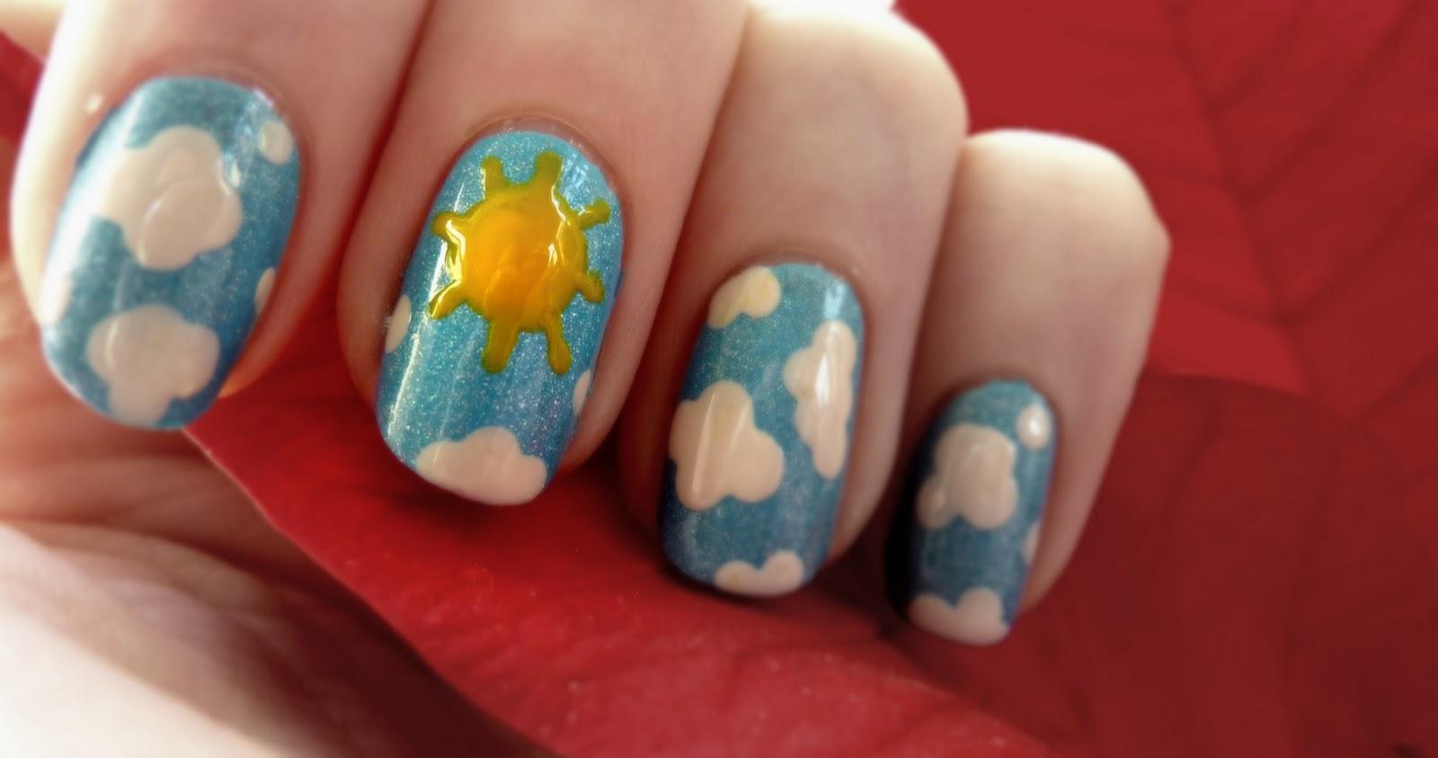 Lucys Nailss Sunny Sky Nail Art Video Tutorial