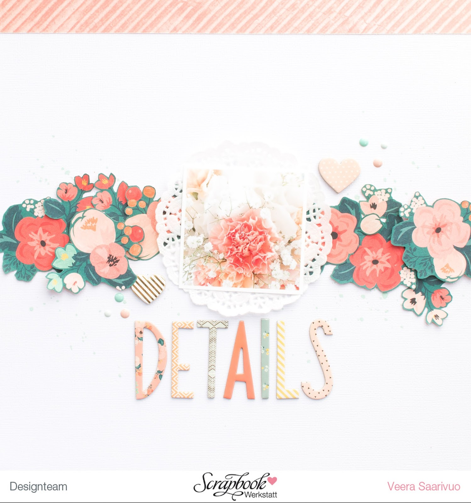 Details layout with crate paper wonder collection v tyylill i instantly knew how i would design the layout and i just moved the flowers from my table to the cardstock and adhered everything mightylinksfo