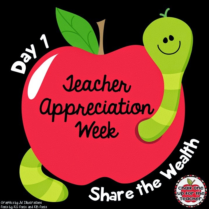 Teacher appreciation day 1 one room schoolhouse happy teacher appreciation week as a thank you to all of the amazing teachers i am going to do a few little giveaways this week sciox Images