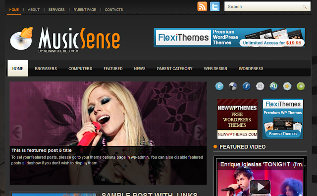 Music Sense - Music Blog Wordpress Theme