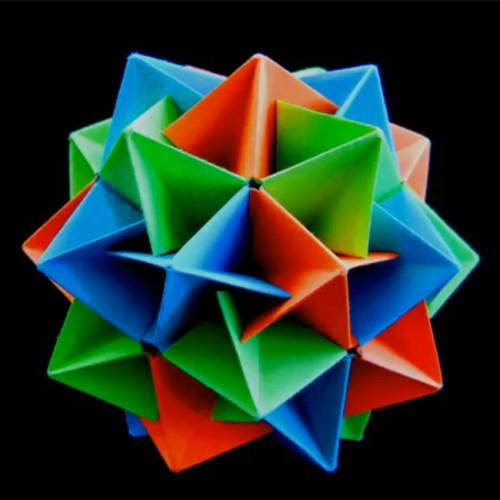 Новогодние шары своими руками оригами