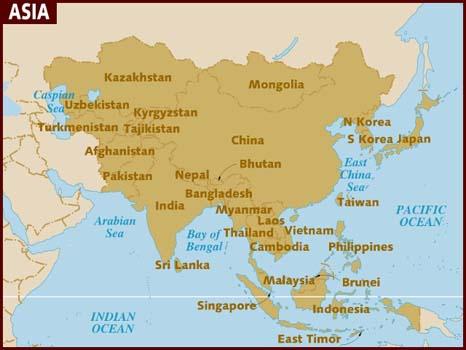 Southern Asia Map Asia Map Countries Busan South Korea Map Kaeng