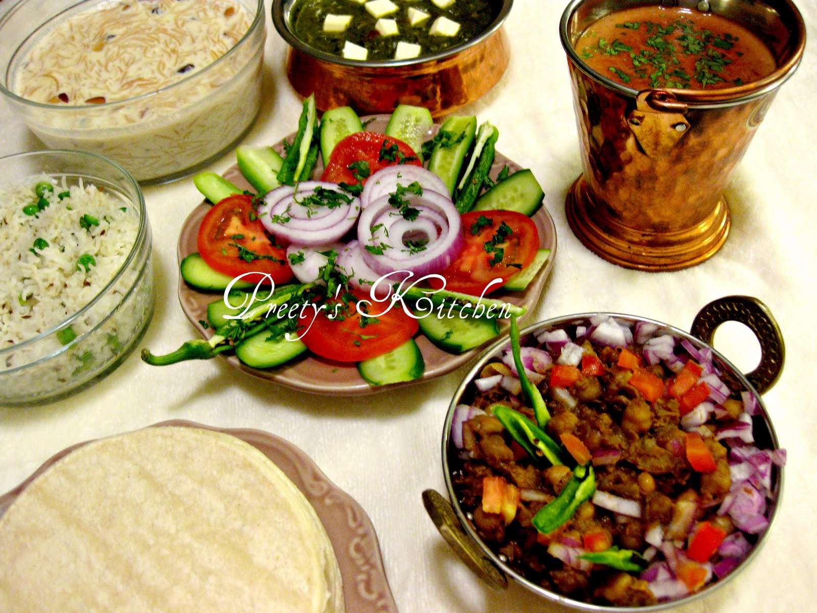 Preety 39 s kitchen punjabi style indian meal nov 24x24 for Authentic punjabi cuisine