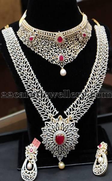 Grand Diamond Bangles by Manepally