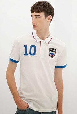camisa polo bandeira Rússia da Zara para Copa do Mundo 2014