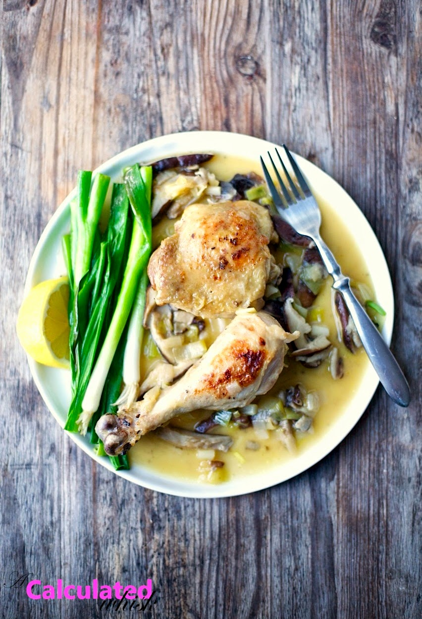 Braised Chicken with Leeks & Scallions | acalculatedwhisk.com #paleo #glutenfree #grainfree #whole30