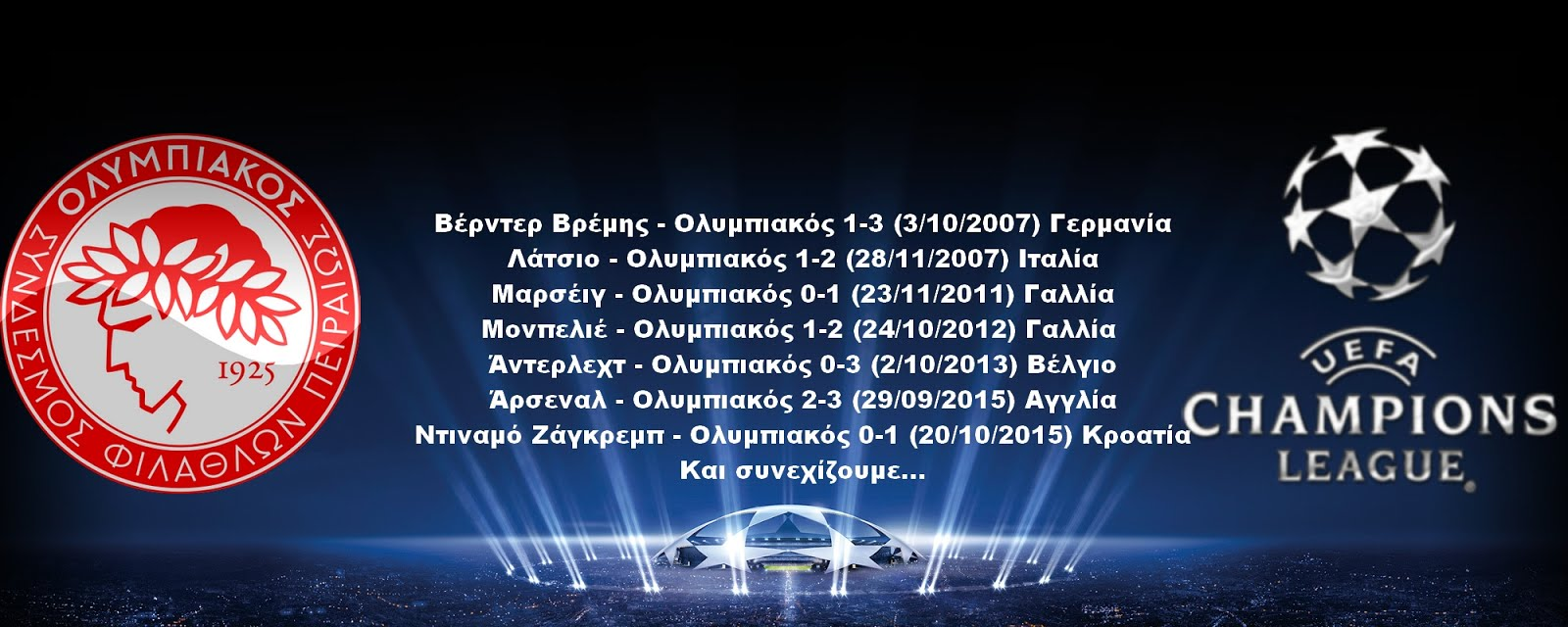 Champions League εκτος