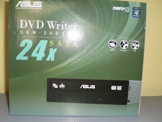 Asus DRW-24B3ST 24X DVDRW black SATA w/Nero software Retail