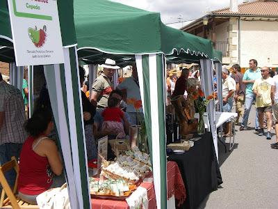 Un puesto del mercado JArdin de las Delicias