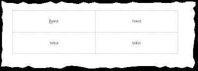 Word z włączonym wyświetlaniem granic tabeli