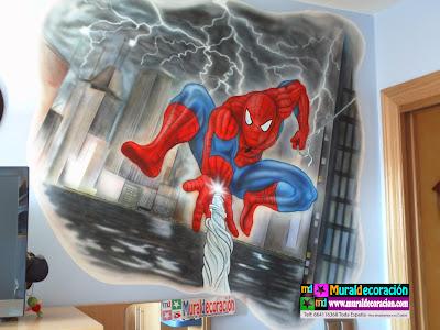 Spiderman Murales Infantiles Murcia