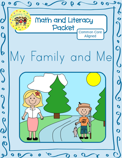 http://www.teacherspayteachers.com/Product/My-Family-and-Me-Math-and-Literacy-Packet-1190309