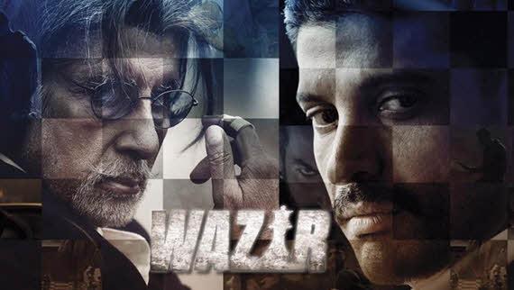 Farhan Akhtar and Amitabh Bachchan in Wazir Poster