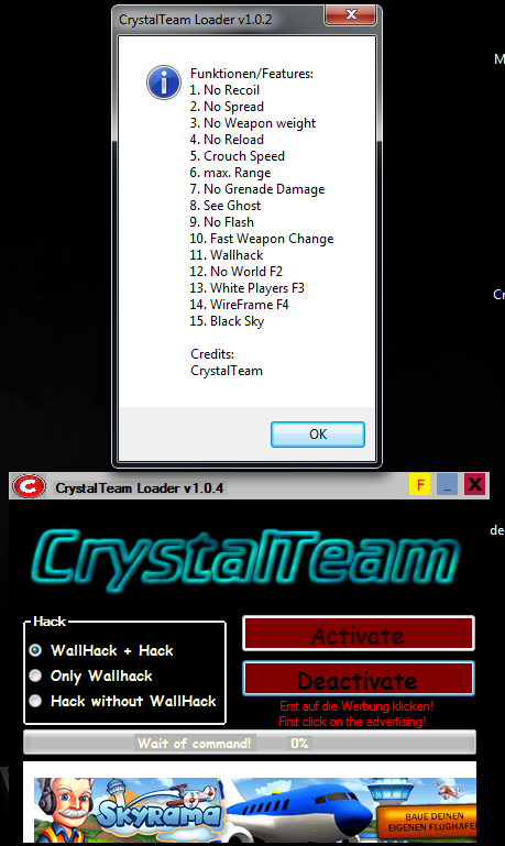 v104 CrossFire Yeni Crystal Team Wallhack Hile botu v1.0.4 indir   Download