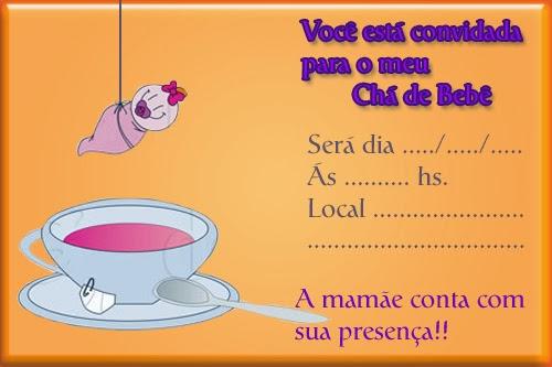 Convite para chá de bebê passo a passo