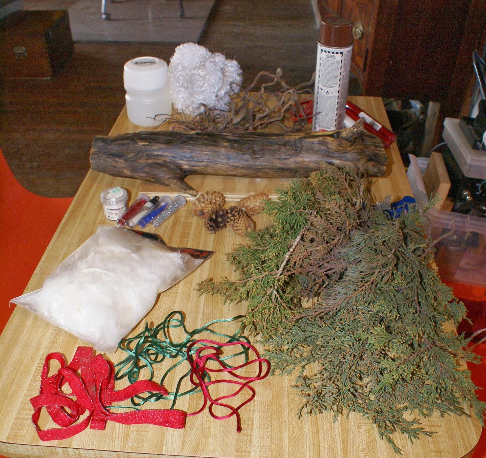 Hoodoo hill yule log christmas dinner centerpiece