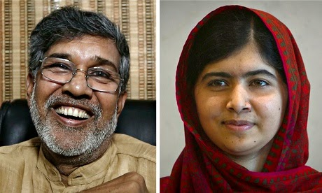 Kailash Satyarthi and Malala Yousafzai Nobel Prize Winners For Peace 2014