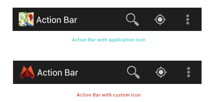 changing  Action Bar icon
