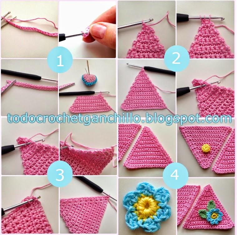 Alfiletero triangular paso a paso | Todo crochet