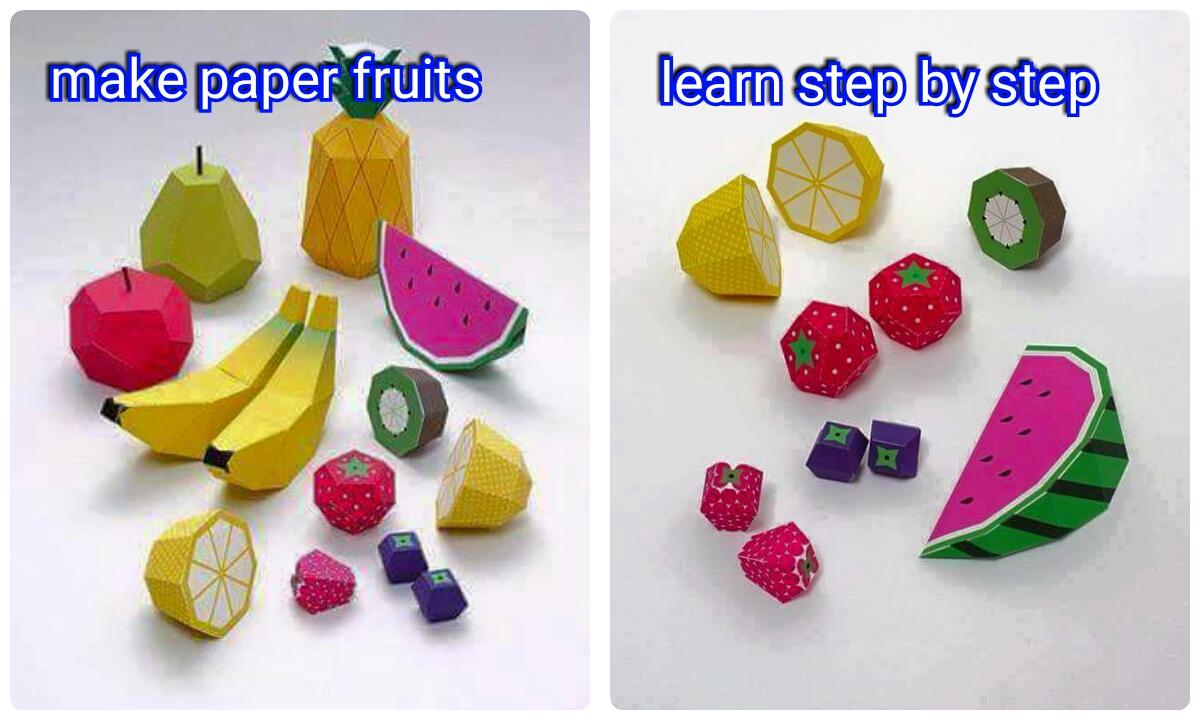 Make A Beautiful Paper Fruits Crazzy Craft