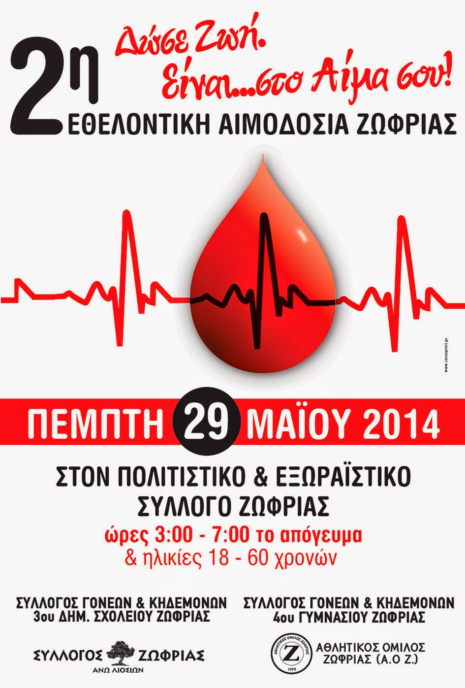 2η εθελοντική αιμοδοσία Ζωφριάς