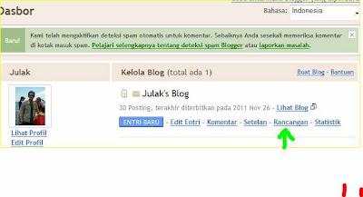 cara mengganti atau merubah ubah tampilan template blog