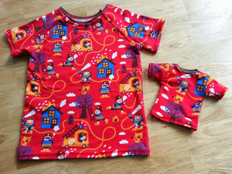 Ottobre raglan tshirt Bora stof inclusief een tshirt voor pop