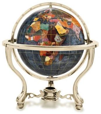 black opalite gemstone globe