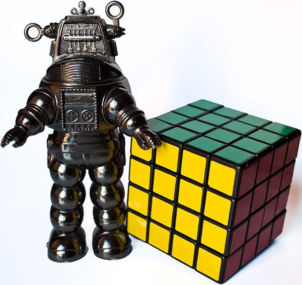 rubik 4x4x4 robot forbidden planet