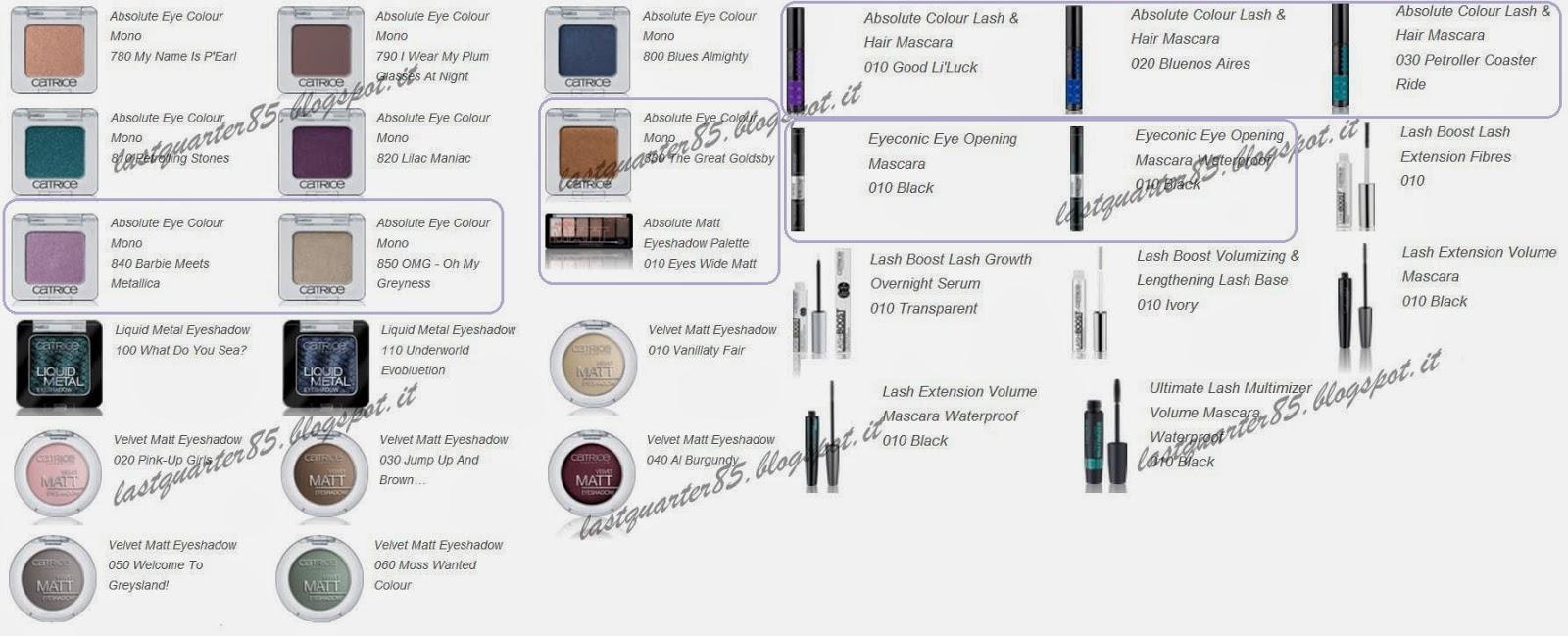 Catrice: nuovi prodotti occhi estate 2014.
