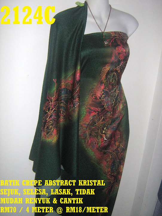 2124C: BATIK CREPE ABSTRACT KRISTAL,  4 METER