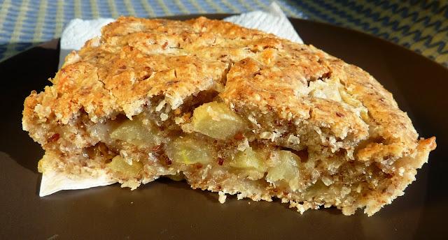 bizcoho de manzana y coco vegano sin gluten